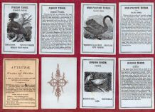 ANTIQUE CARDS GAME AVILUDE - GAME OF BIRDS BY WEST & LEE PLAYING 1873